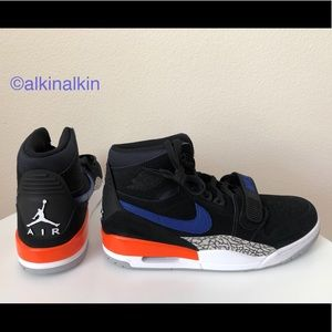 Nike Air Jordan Legacy 312 Black-Rush Blue-Orange